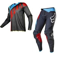Fox 2017 completo Maglia Pantalone Jersey Pants Flexair Seca Grigio Rosso 30/m