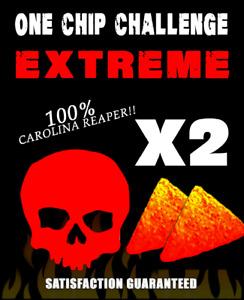 2 x ONE CHIP CHALLENGE .... WORLDS HOTTEST CHILLI CHIP 🔥🔥🔥