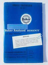Baker Analyzed Reagents And Other Chemicals Catalog No.56 NJ