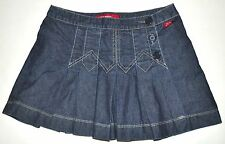 Miss Sixty Button Front Dark Blue Pleated Denim Jean Skirt Small ITALY ADORABLE