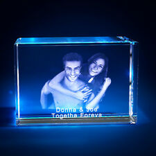 3D Laser Crystal Personalized Etched Engrave Stand Valentine's Day Landscape S