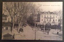 CPA. PERPIGNAN. 66 - Avenue de la Gare. Hotel Terminus Bercy. Gil. Tram ?