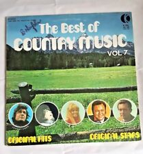 The Best of Country Music Vol. 7 K-Tel 1973 Vintage LP Record Stereo Original