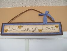 LIVE LAUGH LOVE Wood BLOCK SIGN Home Decor NEW LAST ONE FREE USA SHIPPING