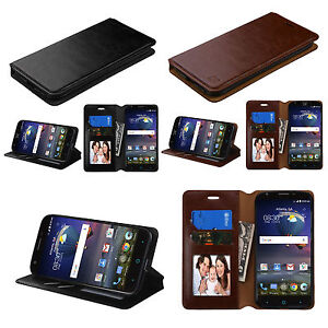 For MOTOROLA MOTO Z2 Force /Z2 Play Leather Wallet Flip Case Cover Stand Pouch