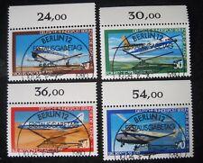 B0 186  BERLIN 1980 Michel 617 - 620 Jugend Luftfahrt Sonderstempel, Oberrand