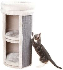 Cat Tower 15.75 in. W x 15.75 in. D x 29 in. H 2-Story Medium with Removable Bed