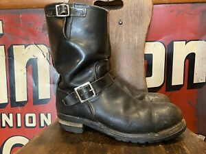 Red Wing Engineer Boots Black Size 11 D Style 19474 Steel Toe