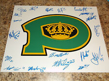 2015-16 POWELL RIVER KINGS SIGNED 11 X 14 MATTE BCHL LOGO PHOTO 19 PLAYERS