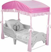 Toddler Beds Children Girls Canopy Toddler Bed Pink Polyester Aluminum Toddler