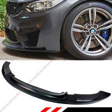 FOR 2015-18 BMW F80 M3 F82 F83 M4 POLYURETHANE BLK GT FRONT BUMPER LIP SPLITTER