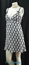 Express 100% silk chiffon Dress B&W polka dot mini dress adj straps Size XS NEW
