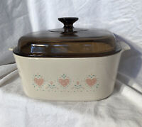 Vintage Corning Ware  Forever Yours casserole- 5 Qt With Lid