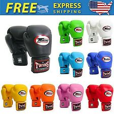 Muay Thai Boxing Twins Special Bgvl-3 Genuine Leather Gloves+DHL Express 3-5 Day