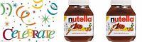 2 HUGE FERRERO NUTELLA CHOCOLATE HAZELNUT SPREAD 67 OZ COCOA SKIM MILK 33.5 OZ/2