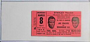 Muhammad Ali vs Joe Frazier closed circuit ticket stub w/ Plastic Holder BOXING