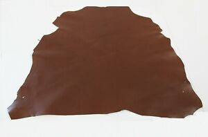 BRANDY BROWN GOAT LEATHER HIDE / 6 Square Foot Avg / Thickness 0.9mm to 1.1m