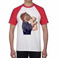Horror hand Funny Ringer T-shirts Men's Cotton Short Sleeve Tops summer Tee