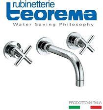 """Teorema """"Forever"""" 6531611 Wall Mounted Two-Cross Handles Basin Mixer NIB"""