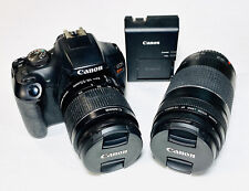 Canon EOS Rebel T7 24.1MP DSLR Camera w/ EFS 18-55mm EF 75-300mm Battery Charger