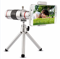 X18 & X12 Optical Zoom Telescope Camera Lens Kit Tripod Cell Phone Smartphone