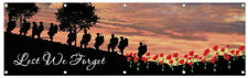 New listing Lest We Forget flag Army Australia Anzac 2x8ft banner