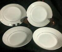 Mikasa Stratford Nita White Designer Collection Set of 4 Dessert Bowls L9007