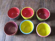 Lots de 6 jolis petits bols minis  en porcelaine décorée à la main .décoration