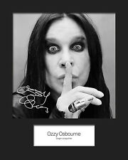 OZZY OSBOURNE #1 10x8 SIGNED Mounted Photo Print - FREE DELIVERY