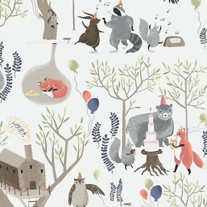 Tree top Party Foxtail Forest by Rae Ritchie By The yard Cotton Dear Stella