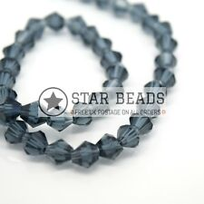115 X Faceted Bicone Crystal Glass Beads 4x3mm - Pick Colour Montana