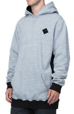 NEW + TAG RVCA MENS XXL GOTHARD FLEECE JUMPER HOODIE HOOD PULLOVER GREY MARLE