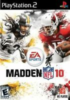 Madden NFL 10 (Sony PlayStation 2, 2009) **NO MANUAL**