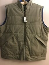 NWT PETER MILLAR Pick Stitch Full Zip Reversible Quilted Vest Jacket S L $495