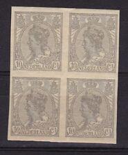 NVPH 83 POSTFRIS in BLOK van 4 Wilhelmina 1923 Orginele gom MNH