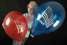"3 x große Tuftex 17"" Luftballons USA-FLAGGE *USA FLAG*PATRIOTIC*AMERIKA*"