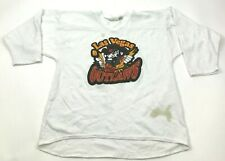 VINTAGE Las Vegas Outlaws Hockey Jersey Size Small S White Long Sleeve Adult 90s