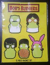 BOB'S BURGERS Kuchi Kopi Family 6-Piece Magnet Set (BRAND NEW)