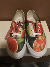 Vans Authentic Frida Kahlo Watermelon True White Multi Color SIZE 4.5