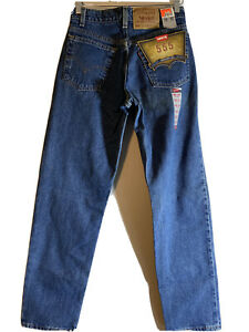 Vintage Levis 555 Relaxed Fit Jeans 29x32 NWT Made in USA NOS