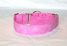 "1.5"" Martingale Dog Collar Pink with Heart Outlines"