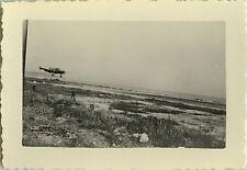 PHOTO ANCIENNE - VINTAGE SNAPSHOT - AVION ATTERRISSAGE NICE - PLANE LANDING 1947