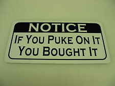 New listing If You Puke On It You Bought It Metal Sign 4 Man Cave Garage Boxing Gym Bar Shop