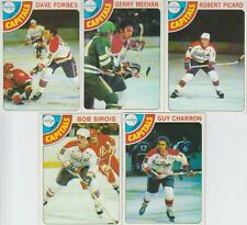 1978-79 Topps Hockey Capitals 5 Card Lot Gerry Meehan VG-EX Cond. #22,39,96,128