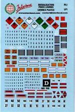 Decal 1/43 PLACCHE SEGNALAZIONI TRASPORTO MERCI/AUTOCARRI  INTERDECAL PL1