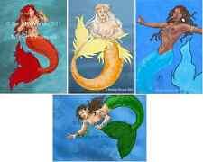 Exotic Mermaid 4 Aceos sexy fantasy magic artwork art fairy faerie Brandy Woods