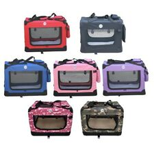More details for hugglepets fabric dog crate puppy carrier - cat travel cage carry pet bag 4 size