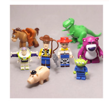 Toy Story 8 Pieces of Action Figures Jessie & Bullseye & Buzz & Hamm & Woody Dis