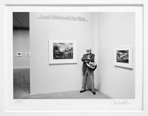 "JOHN SEXTON SIGNED 1979 ANSEL ADAMS AT THE MUSEUM OF MODERN ART 5""X7"" PHOTOGRAPH"