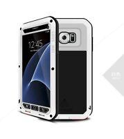 Heavy Duty Metal Shockproof Waterproof Case Cover Glass Screen Film for Samsung